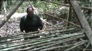 SUPERVIVENCIA    EN   SELVA  -   CONSTRUCCION      DE     REFUGIO
