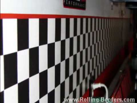 Checkered Flag - Nascar Wallpaper Borders Video