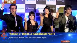 Krrish 3 - 'Krrish 3' hosts a Halloween party Hrithik, Vivek & Kangana