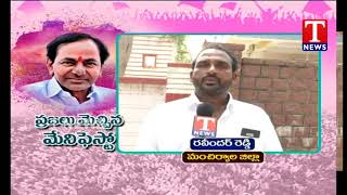 Public Express Happy and Praises CM KCR Over TRS Manifesto  Telugu