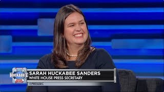 EXCLUSIVE: White House Press Secretary Sarah Huckabee Sanders Talks Trump, Jesus & More! | Huckabee