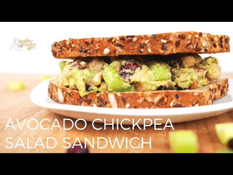 Cranberry Walnut Chickpea Salad Sandwich | Easy Healthy Lunch | Healthy Grocery Girl