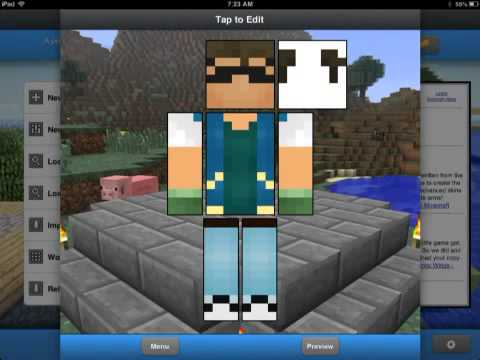 0.8.1/ 0.9.1  How to change your Minecraft PE Skin (easy)