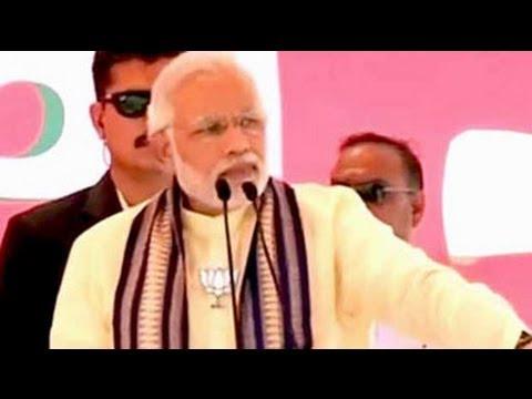 Narendra Modi campaigns in Jhajjar in Haryana