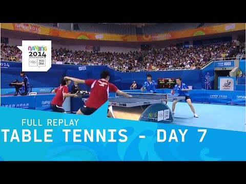 Table Tennis - Semi Finals Singles & Mixed Doubles | Full Replay | Nanjing 2014 Youth Olympic Games