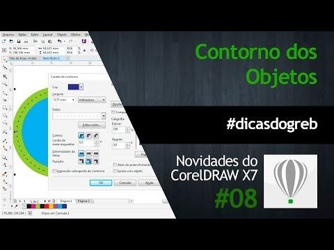 CorelDRAW X7 - Configurações de Contorno #dicasdogreb