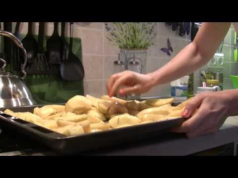 курица с картошкой запеченая в духовке