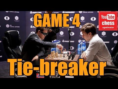 Magnus Carlsen vs Sergey Karjakin || World Chess Championship tie breaker || GAME 4