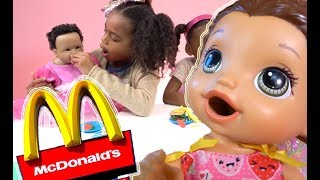 Pretend Play Food! Baby Doll McDonalds Play-doh