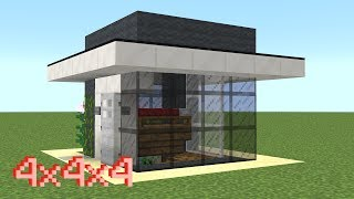 Minecraft - How to build a small 4x4 modern house