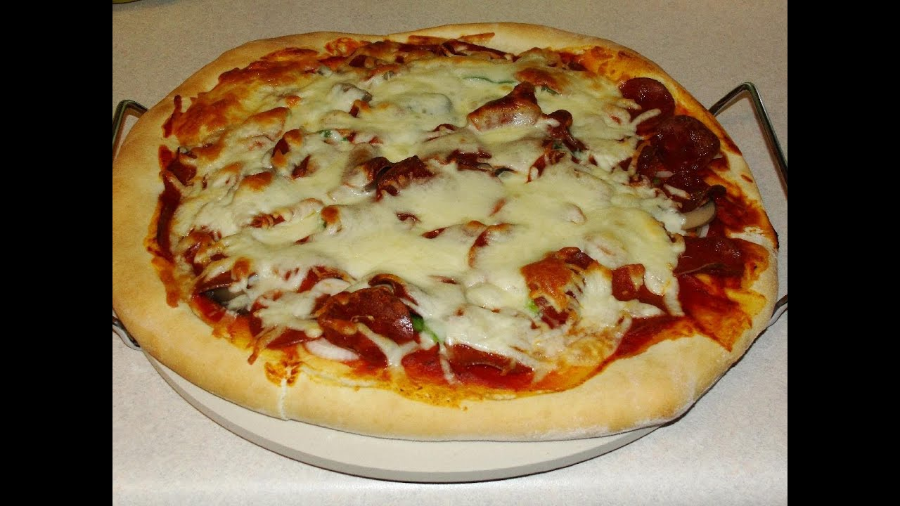 How To Make Fast Easy Homemade Pizza Dough With CookingAndCrafting Yo