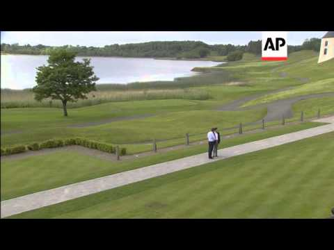 David Cameron greets leaders at G8 summit