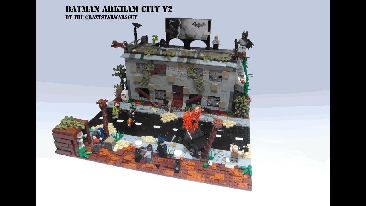 LEGO - MOC City Batman YouTube Arkham V2 -