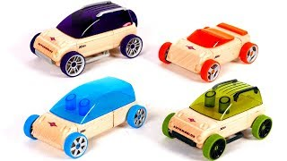 Learn Colors with Toy Vehicles Playset for Kids and Children