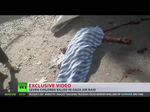 GRAPHIC: Children killed in missile attack on Gaza refugee camp