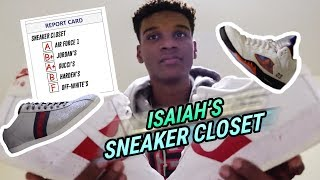 He Wears SIZE 16 GUCCIS!? Isaiah Todd's Sneaker Closet Goes CRAZY With Custom Air Force 1's & More!