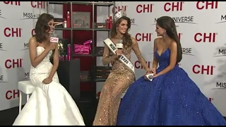 65th Miss Universe (Miss France) - First Live Interview with Pia Wurtzbach