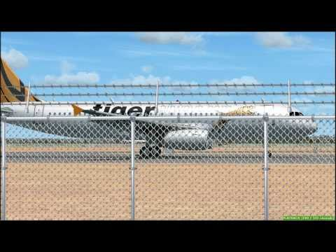 FSX HD - Tiger Airways. Gold Coast-Sydney A320 Wilco