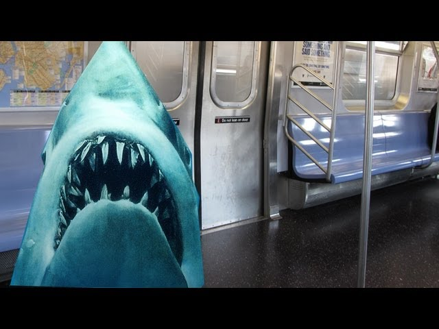 Sharks on a TRAIN! New York subway shark had nude iPhone pics