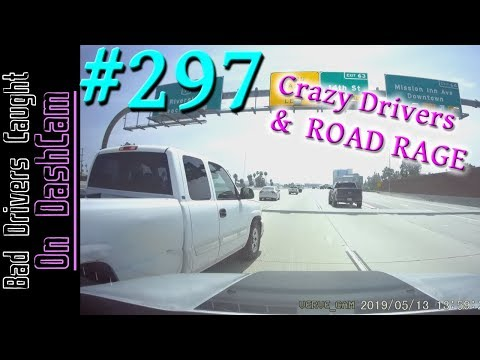 Bad Drivers Dashcam Compilation #297 - Road Rage, Very Crazy Driving and Close Calls