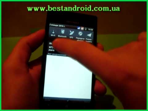 Обзор x18i Android OS Review