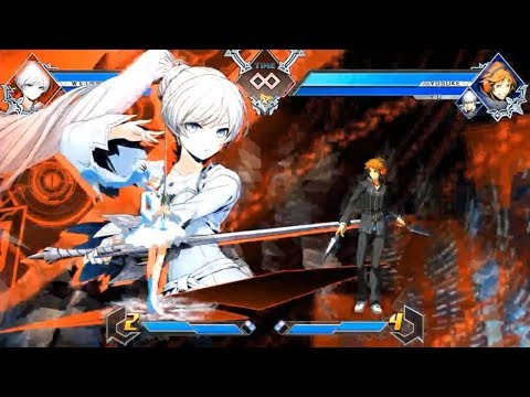 Updated RUBY ROSE & WEISS SCHNEE Gameplay - Blazblue Cross Tag Battle (Early Build)