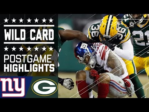 Giants Vs Packers Nfl Wild Card Game Highlights