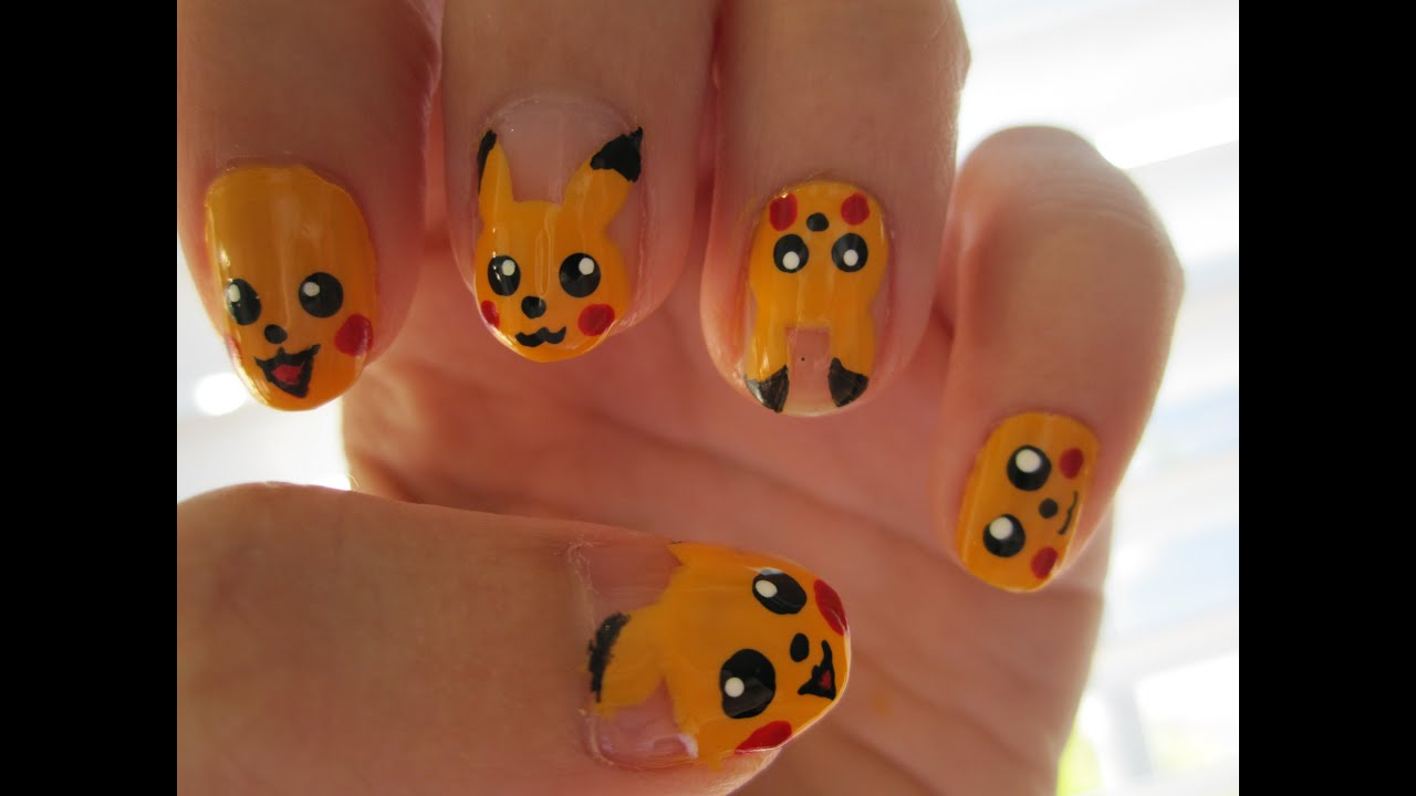 Pikachu Acrylic Nails Pikachu Nails Pokemon