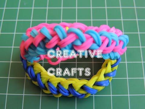 Como hacer una pulsera TRENZA DE CARAMELO de gomitas. Rainbow Lomm Bracelet Taffy Braid.