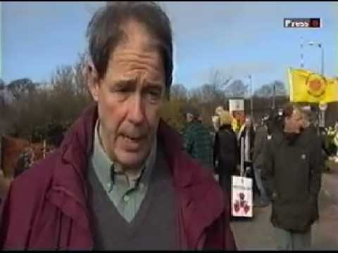 Fukushima anniversary demo at Hinkley C nuclear power station - Jonathon Porritt