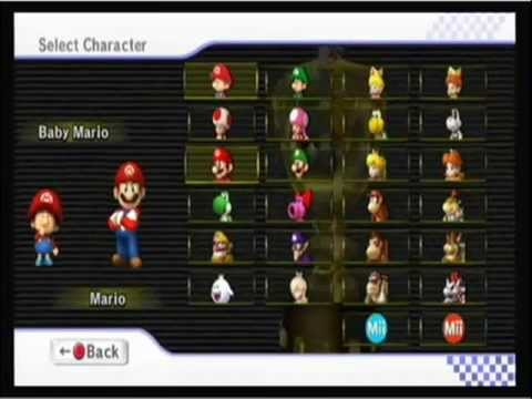 Mario Kart Wii - Choose Two Characters - Glitch