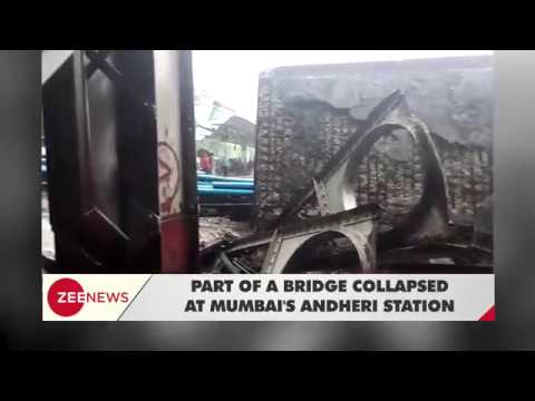 Part of bridge collapses in Mumbai's Andheri station, train services affected
