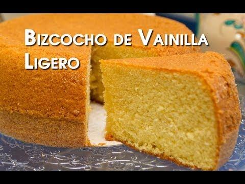 Bizcocho de Vainilla Ligero Especial Tartas y Cupcakes Muy Facil