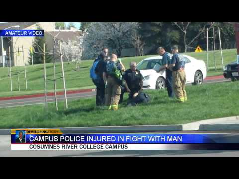Cosumnes River College Campus Police officer injured in fight
