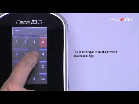 FingerTec Face ID 3 - User Management - To Change or Add Password