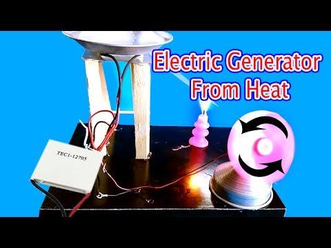 electric generator from heat using peltier module   How to make