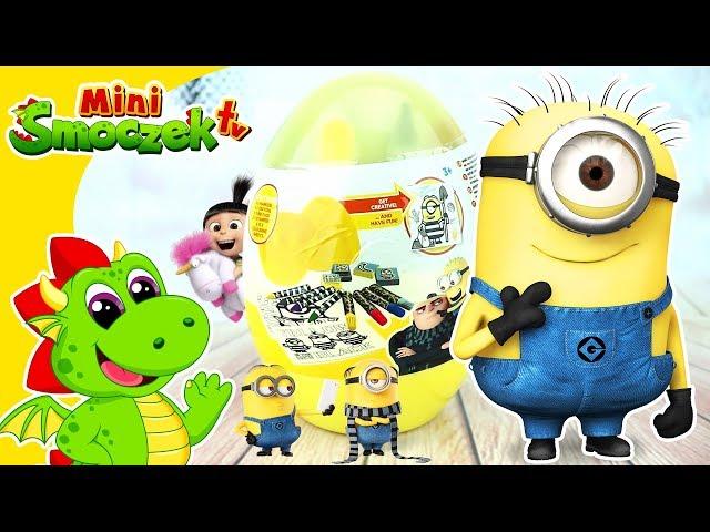 Gru Dru i Minionki Wielkie Jajko Niespodzianka Zabawki Nauka Kolorów Kolorowanka Dla Dzieci