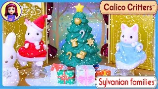 Sylvanian Families Calico Critters Ice Skating Friends Christmas Setup Review - Kids Toys