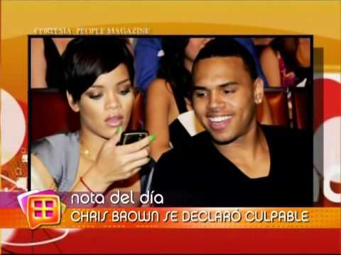 Brown acepta haber golpeado a Rihanna