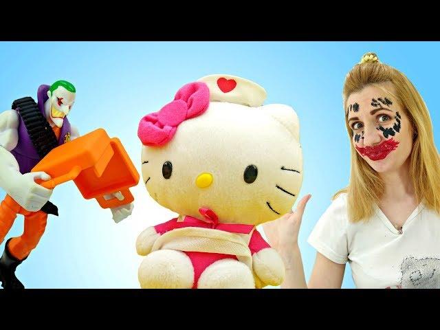 Макияж для Китти от Джокера - Смешное видео - Мультики для детей