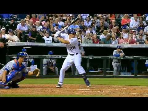 Nolan Arenado swing (slow motion)