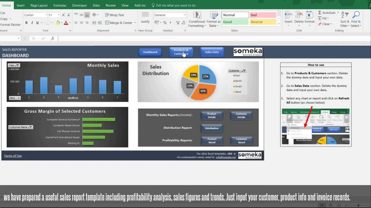 PPT  Monthly Sales Report PowerPoint presentation  free