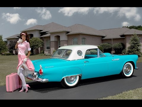 Тест-драйв Ford ThunderBird 1955 (Ford Thunderbird test-drive)