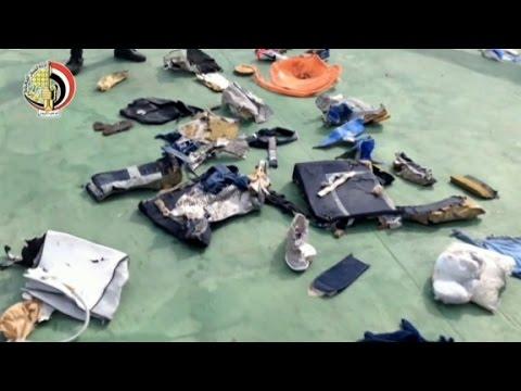 First video of EgyptAir plane debris