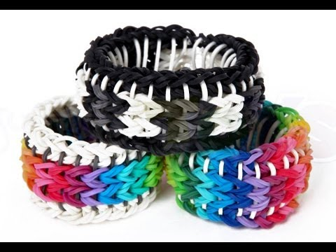 Rainbow Loom Sailors Pinstripe Tutorial - How to make a ...