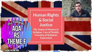 GCSE Religious Studies - Human Rights & Social Justice - Theme F (AQA) REVISION