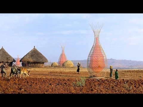WarkaWater Tower Collects Drinking Water From Air