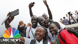 Refugee Athletes Running To Inspire At 2016 Olympic Games | NBC News