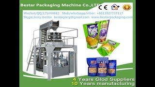 Bestar Automatic 400g Quick frozen dumplings 8station rotary doypack packaging machine with weigher