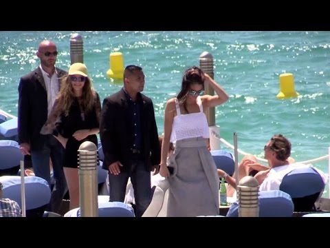 Kendall Jenner and Cara Delevingne together at the Martinez beach restaurant in Cannes